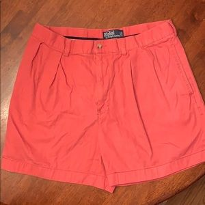 Red polo shorts size 34